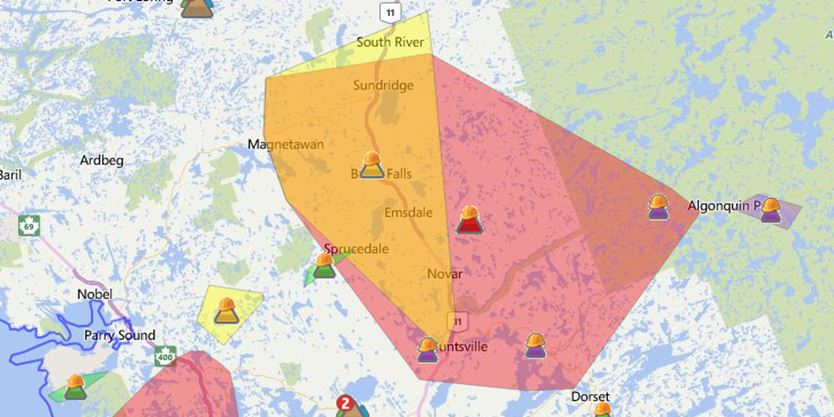 UPDATE: Power restored in Almaguin on boonville ms on map, once upon a time map, route map, electric grid map, power pole, power out, atlantic city electric territory map, northern pass transmission line map, power google map, oge system map, power safety, power lines, evacuation map, blank northeast region map, flooding map, power grid, power brownouts, power surge map, emergency map, power regions map,