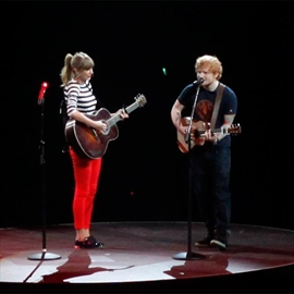 Taylor Swift and Ed Sheeran text in rhyme-Image1