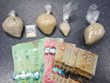 Drugs, cash seized