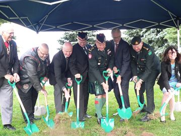 Ground breaking for Afghanistan War Monument