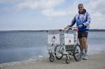 Barrie man pushing shopping cart across Canada to shine light on youth homelessness