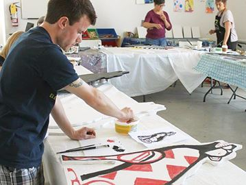 Paint a wolf at Midland's Quest gallery for Festival du Loup
