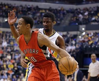 Toronto overcomes sluggish start to run past Pacers 104-91-Image1