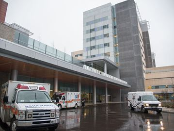 An increase in flu is filling up hospital beds in Oakville, Milton and Georgetown