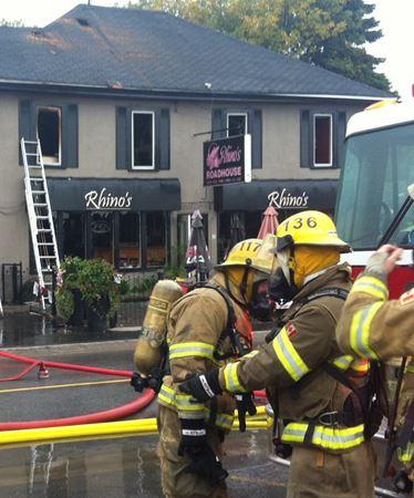 Rhino's Roadhouse fire scene, Bewdley