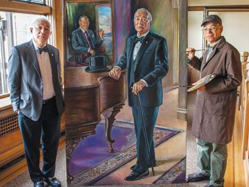 Barrie artist Leeper Canada's go-to portrait painter