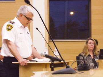South Simcoe Police Chief Rick Beazley appeared before Innisfil Council on Wednesday, May 1 to make a case for the continued employment of his department.