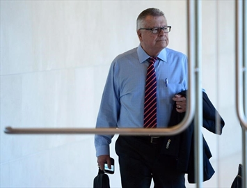 Public Safety Minister Ralph Goodale arrives to appear at commons committee a briefing on the issue of asylum seekers irregularly entering Canada from the United States in Ottawa on Thursday, Oct. 5, 2017. THE CANADIAN PRESS/Sean Kilpatrick