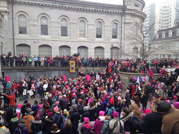 Close to 2000 attended Women's March and Rally on January 21st