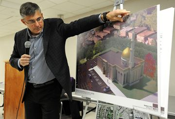 There was standing room only when Ward 9 Councillor Pat Saito hosted a public information meeting at Meadowvale Community Centre last Monday on the subject of a new mosque proposed for a site across from Meadowvale Town Centre.