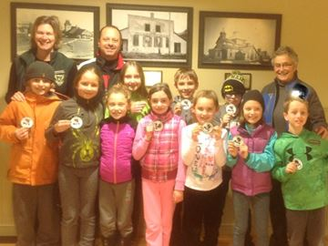 Collingwood little rock curlers earn badges