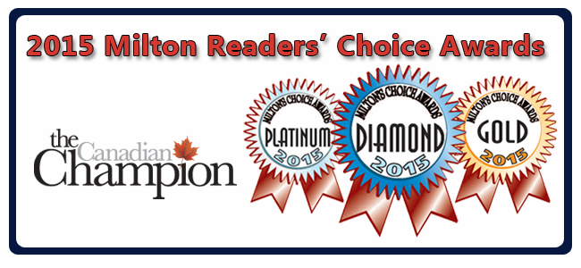 It's time to vote for your favourites in the Milton Reader's Choice Awards and it couldn't be easier! Voting ends at midnight on August 27, 2015