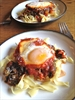 Italian Spinach Baked Eggs and Noodles
