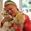 Poignant reunion with stolen Pomeranian pups