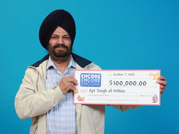 Milton resident wins $100,000 with ENCORE