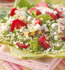 Grilled chicken and strawberry couscous salad a delicious treat– Image 1