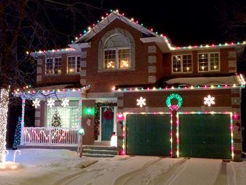 Christmas lights wagon ride