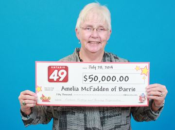 Barrie woman wins $50,000