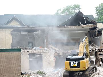Former school demolition