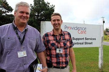 Members of the Providence Care team David Guthrie (Left) and Jason Halliday