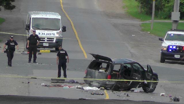 Canada Day crash on Sherbrooke Street - Peterborough - 2015