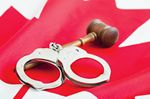 Courthouse cuffs and gavel