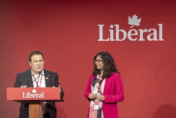 Nickle Belt MP Marc Serre and Mississauga-Erindale MP Iqra Khalid spoke at the 2019 Convention of the Liberal Party of Canada (Ontario), which included remarks from Prime Minister Justin Trudeau at the International Centre on Friday, April 12. Trudeau is scheduled to appear in Mississauga for an evening with the Prime Minister on Tuesday, May 1, at the Mississauga Convention Centre.