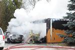 Milton firefighters battle a blaze in January 2015