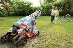 Yarn bombers unveil work at Discovery Harbour in Penetanguishene