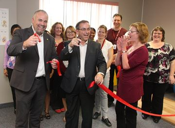 Ribbon cutting at new clinic