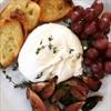 Burrata with Grilled Figs and Grapes