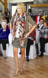 About 100 people took in an afternoon of fun, food and fashion last weekend as The Clan Shoppe and Timber House Country Inn presented