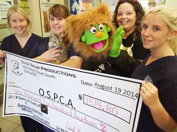 Theatre group helps Orillia SPCA