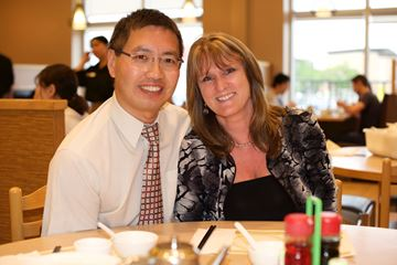 Dr. Chan and Lynn Witteveen