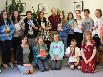 Author visits students at Meaford Library