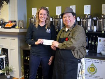Collingwood Olive Oil donates to humane society in memory of lost pet