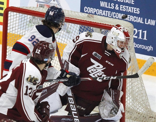 Saginaw Spirit rally with five unanswered goals in come-from-behind win over Peterborough Petes
