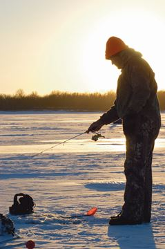 Cold weather a boon for ice fishing in flamborough for Fishing in cold weather