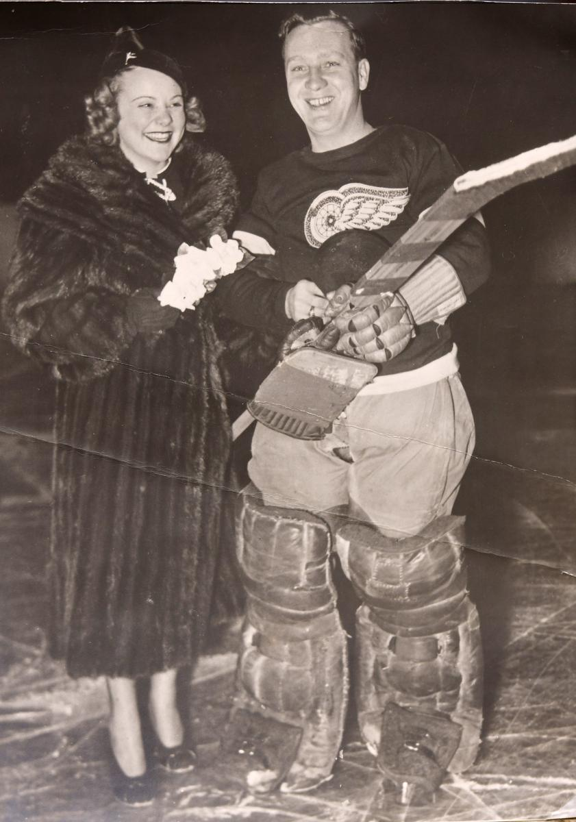 Norm Smith and Canadian Olympic figure skater Sonja Henie