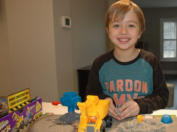 Milton youngster makes his television debut in kids' toy commercial