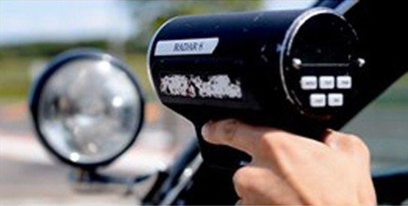 Police nab two men driving nearly double the speed limit