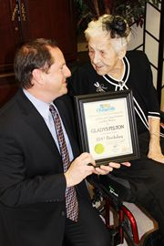 A birthday celebration was held on March 5 for Avalon Retirement Centre resident Gladys Pelton, who turned 104 years old on Feb. 19. To mark the occasion, Mayor Rob Adams presented Gladys with a congratulatory certificate.