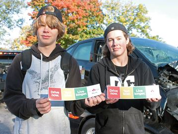 Alliston students come face-to-face with perils of distracted, impaired driving