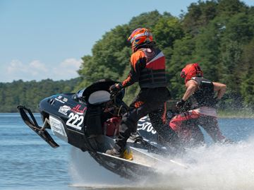 Third annual watercross race held at Little Lake Park in Midland