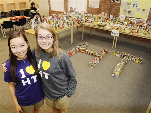 Stopping hunger with collection of treats for Oakville high school craft fair