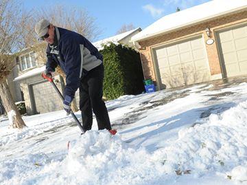 Snow causes problems for Burlington drivers