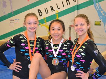 Trio excels at gymnastics nationals
