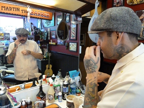 The Cut Waterloo Restaurants >> Rockabilly barber revives old-school pompadour at Vegas ...