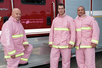 Huntsville Firefighters think pink
