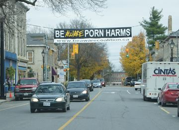 Porn Harms banner may face further application to fly